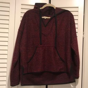 Madewell Red and Black Sweater Hoodie